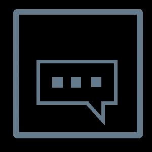 logo transcription bleu gris